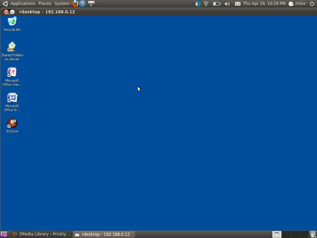 Ubuntu 10 4 Lucid Remote Desktop To Windows XP Professional