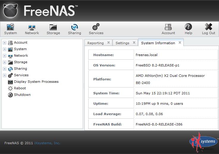 FreeNAS | Michael Lane's Technology Blog