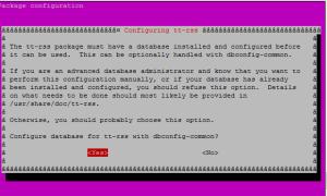 tt-rss database config