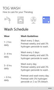 Wash Schedule