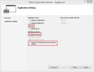 Win32 Application Wizard - AppRes